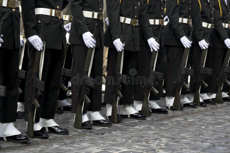 ceremonia żołnierzy zdjęcie royalty free