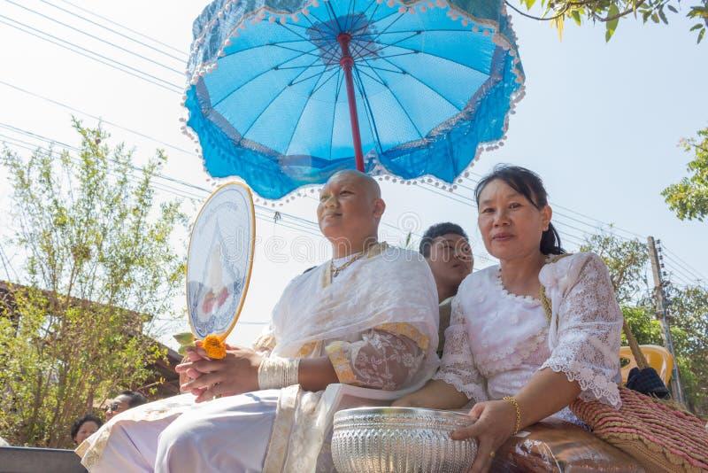 Ceremonia budista tailandesa de la ordenación fotos de archivo libres de regalías