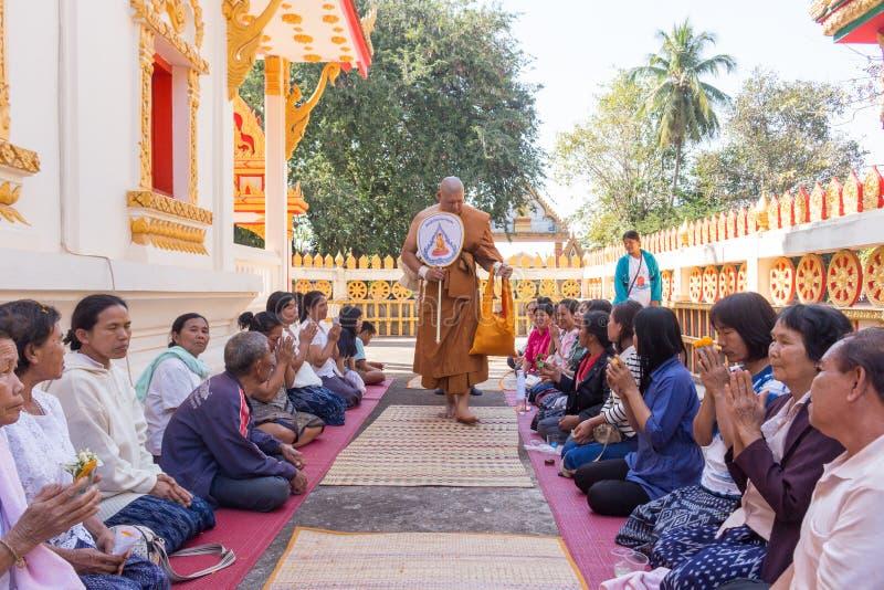 Ceremonia budista tailandesa de la ordenación imagen de archivo libre de regalías