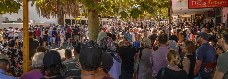 Ceremonia conmemorativa de Perth a Christchurch foto de archivo