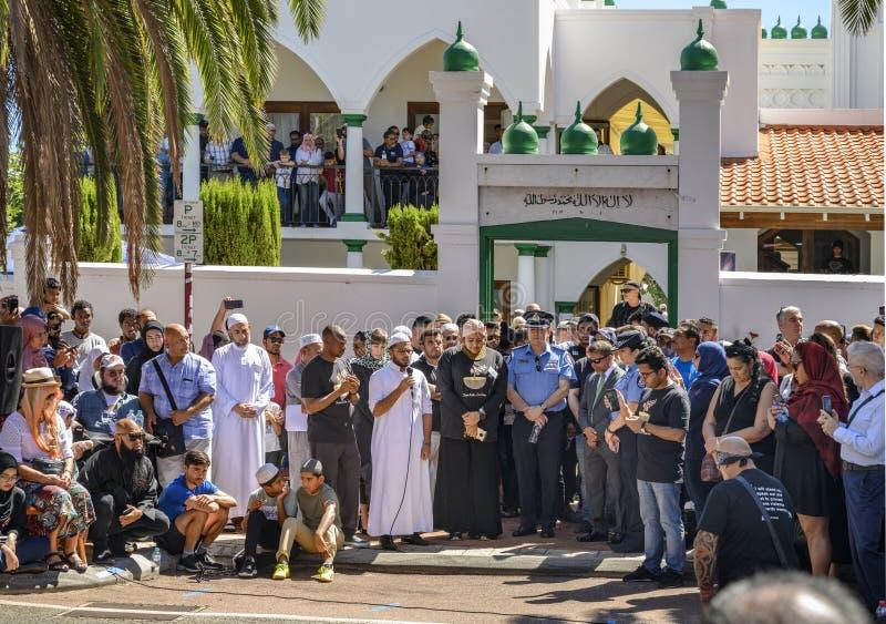 Ceremonia conmemorativa de Perth a Christchurch foto de archivo libre de regalías