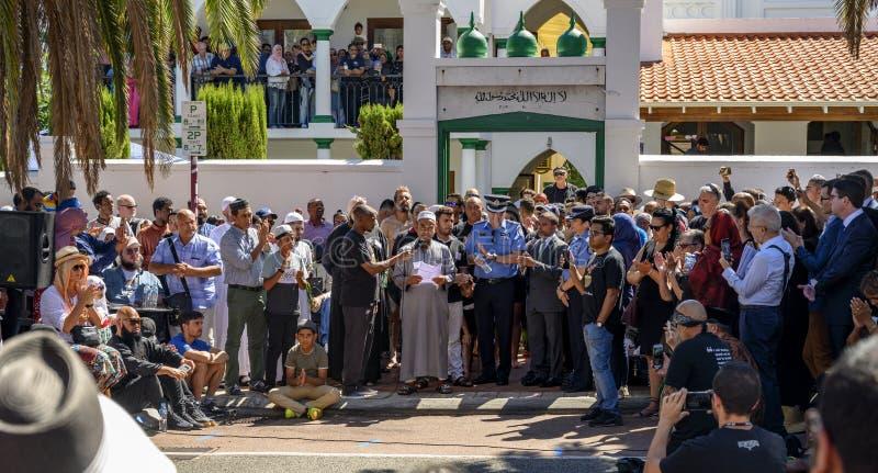 Ceremonia conmemorativa de Perth a Christchurch imagen de archivo