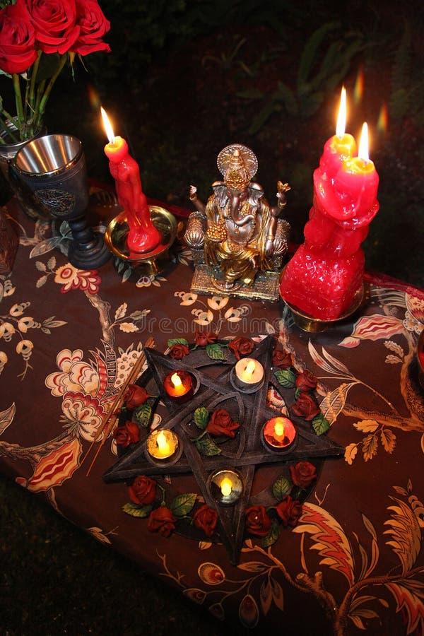 Ceremonia de boda de la brujería imágenes de archivo libres de regalías