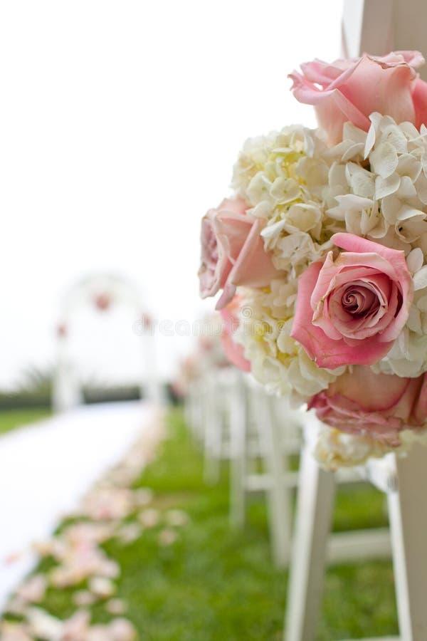 Ceremonia de boda en jardín fotografía de archivo
