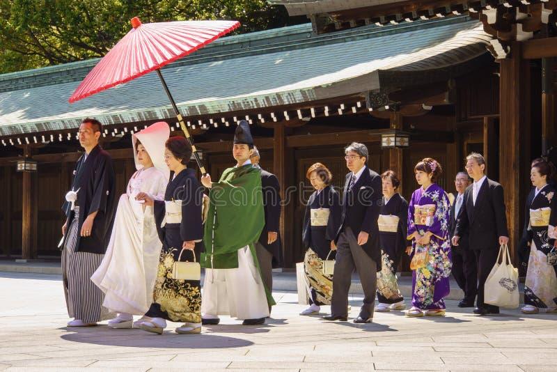 Ceremonia de boda sinto?sta japonesa imagen de archivo libre de regalías