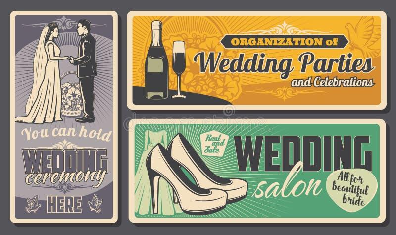 Ceremonia de boda y organización de partido del matrimonio libre illustration