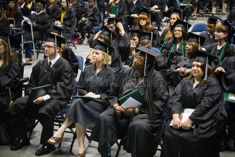 Ceremonia de graduación imagen de archivo libre de regalías