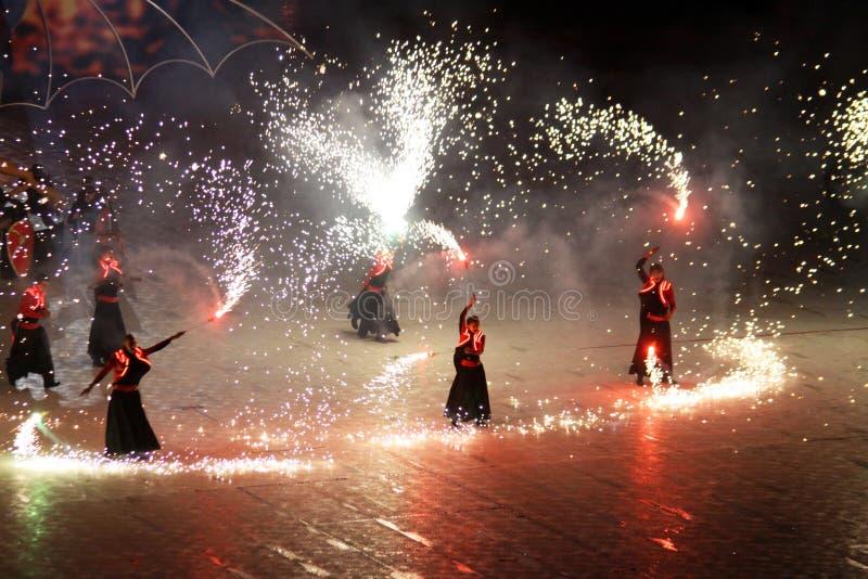 Ceremonia de inauguración del estadio olímpico foto de archivo libre de regalías