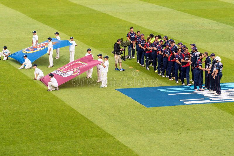 Ceremonia de inauguración del partido del grillo T20 imagenes de archivo