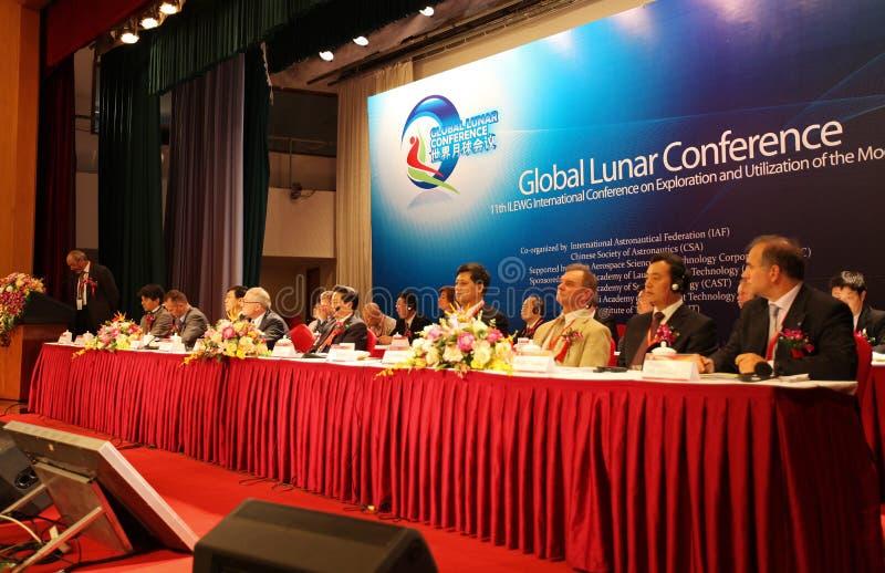 Ceremonia de inauguración lunar global de la conferencia foto de archivo