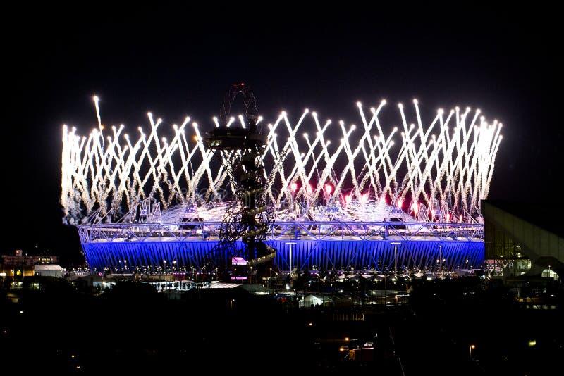 Ceremonia de inauguración olímpica 2012 imagenes de archivo