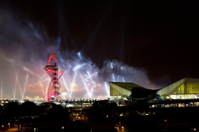 Ceremonia de inauguración olímpica 2012 foto de archivo libre de regalías