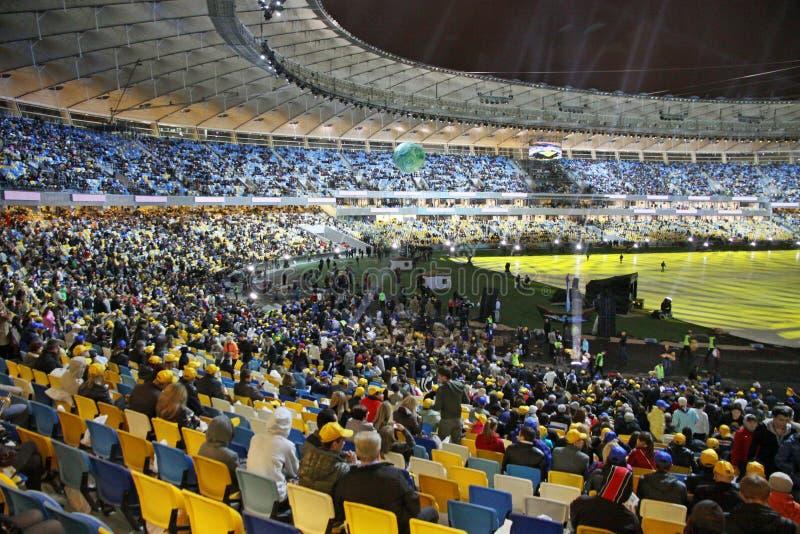 Ceremonia de inauguración olímpica del estadio, Kyiv, Ucrania fotos de archivo libres de regalías