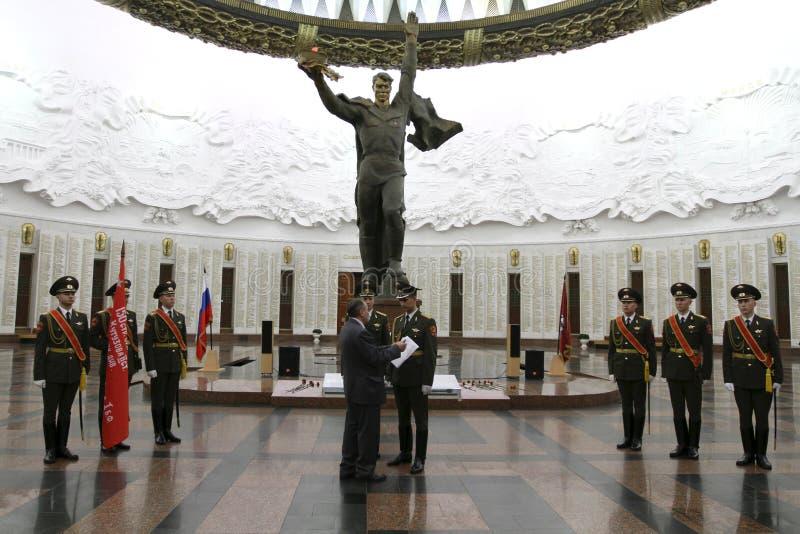 Ceremonia De La Transferencia De La Bandera De La Victoria Imagen de archivo editorial