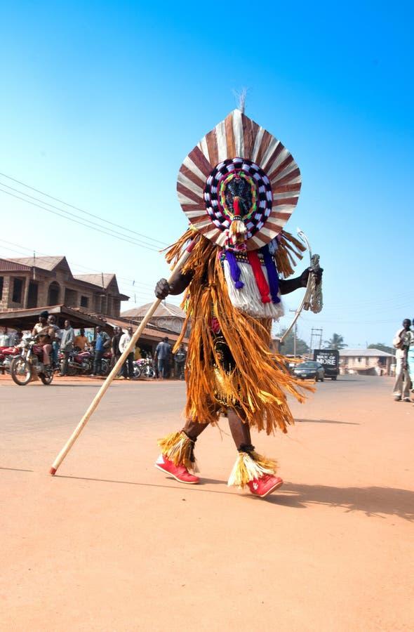 Ceremonia de los grados de edad en Nigeria imagen de archivo libre de regalías