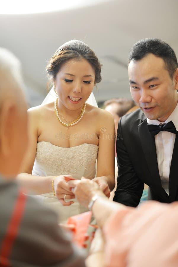 Ceremonia de té asiática de la boda fotos de archivo libres de regalías