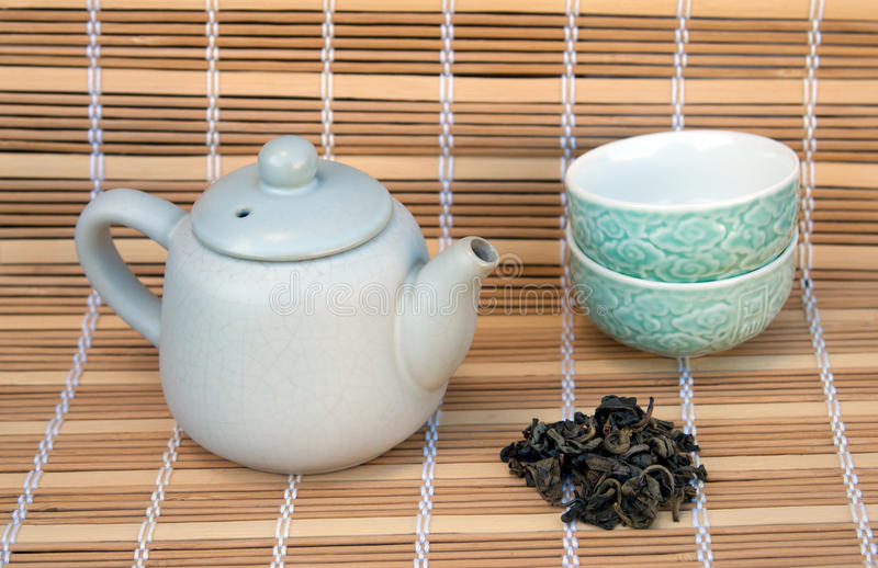 Ceremonia de té, té verde imagenes de archivo