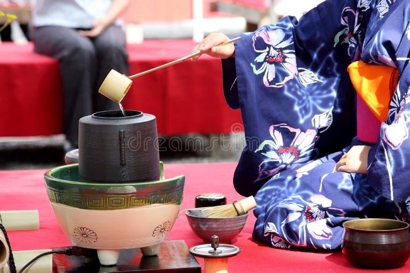 Ceremonia de té verde japonesa foto de archivo libre de regalías