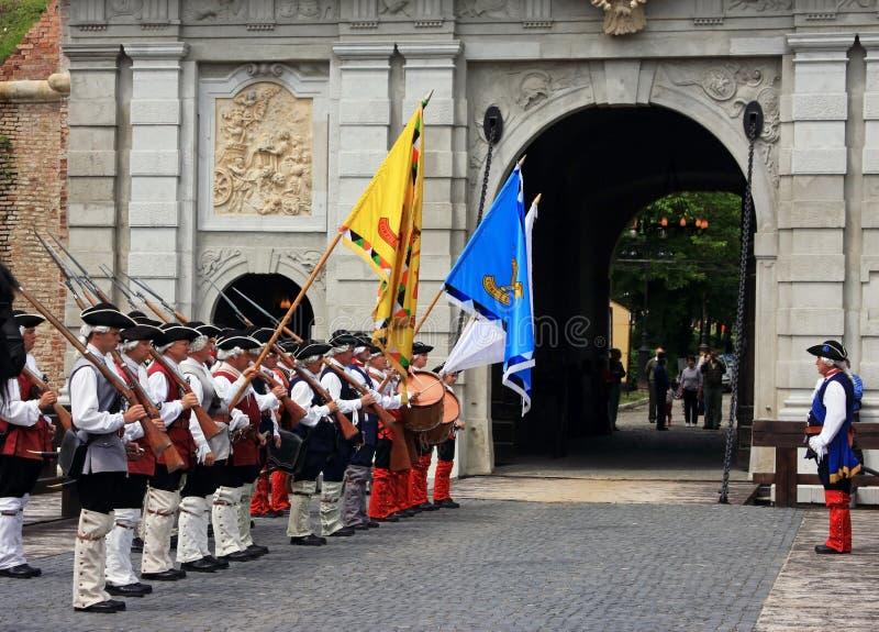 Ceremonia en el castillo fotografía de archivo