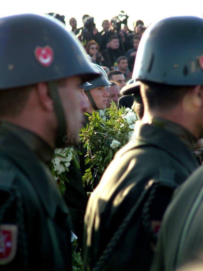 Ceremonia fúnebre de Rauf Denktas imágenes de archivo libres de regalías