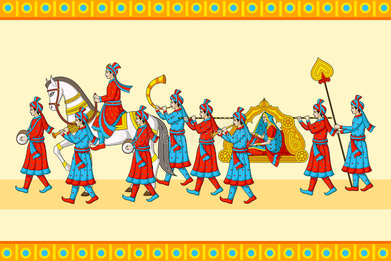 Ceremonia india del baraat de la boda imagen de archivo