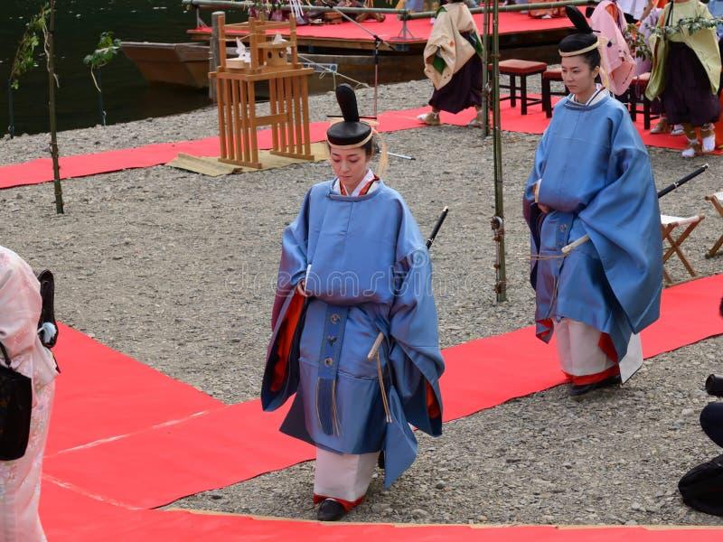Ceremonia princess Saioh, Kyoto Japonia obrazy royalty free