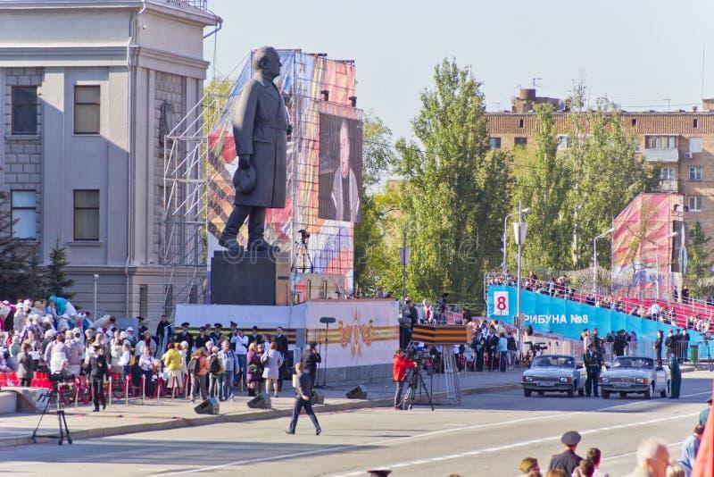 Ceremonia rusa de abrir desfile militar en Victory Da anual fotografía de archivo libre de regalías