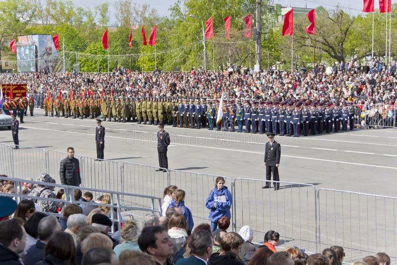 Ceremonia rusa del desfile de los militares de la abertura foto de archivo