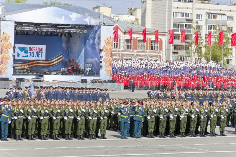 Ceremonia rusa del desfile de los militares de la abertura imágenes de archivo libres de regalías