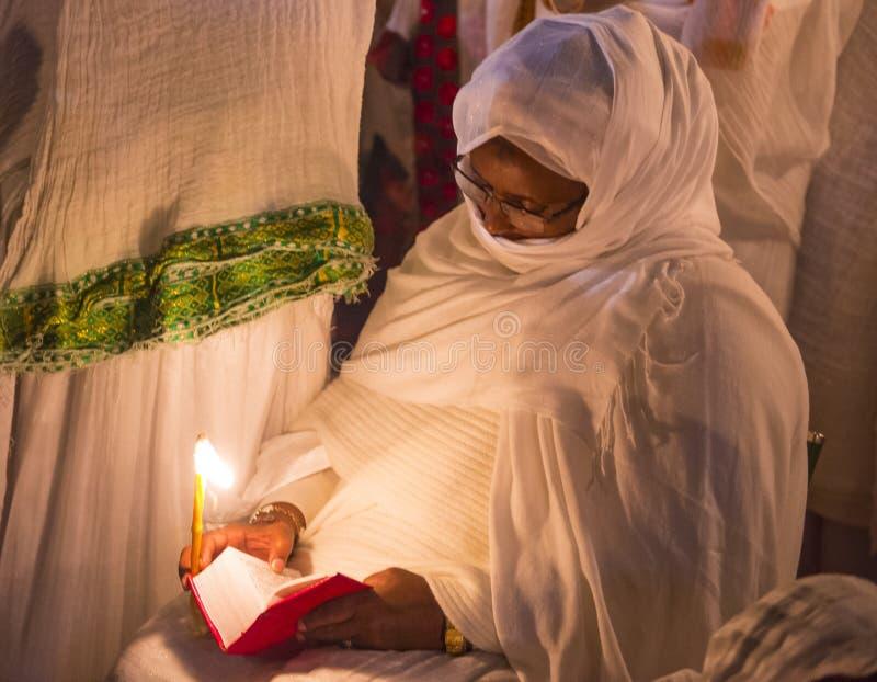 Ceremonia santa etíope del fuego fotos de archivo