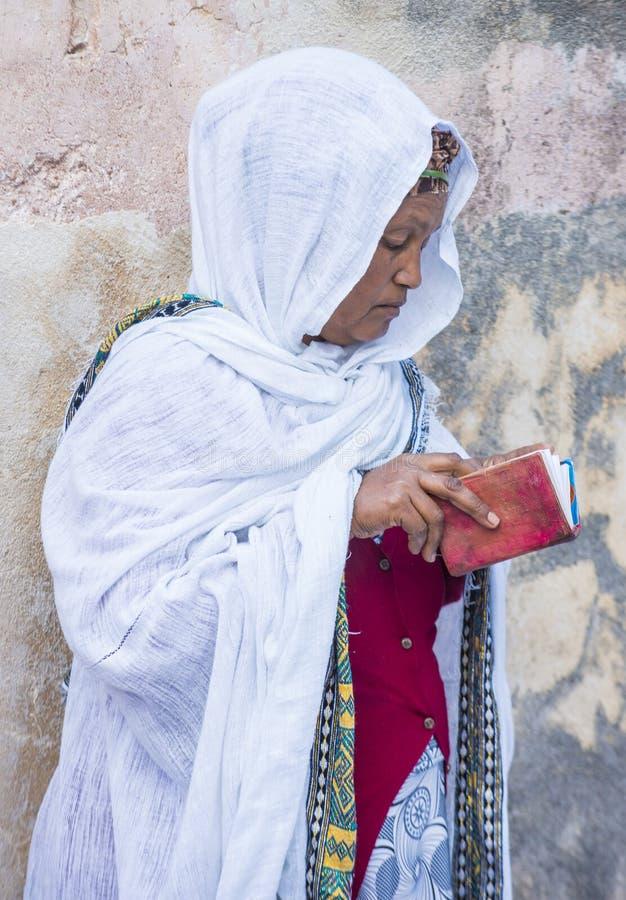 Ceremonia santa etíope del fuego fotografía de archivo