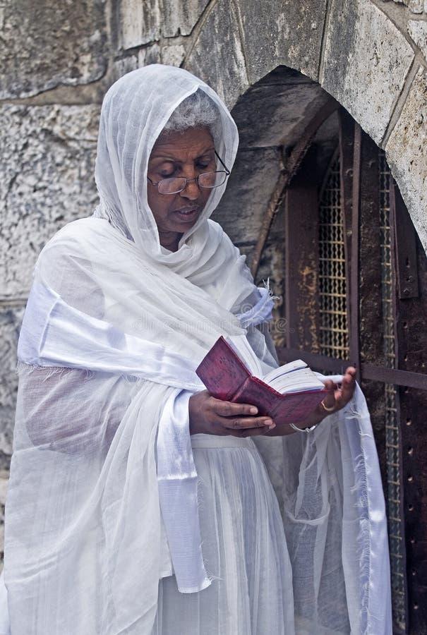 Ceremonia santa etíope del fuego imagen de archivo libre de regalías