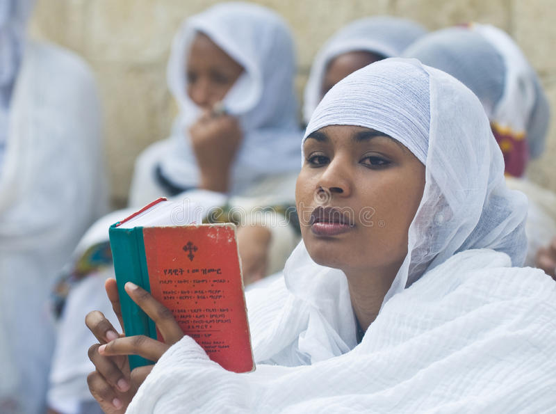 Ceremonia santa etíope del fuego imagen de archivo