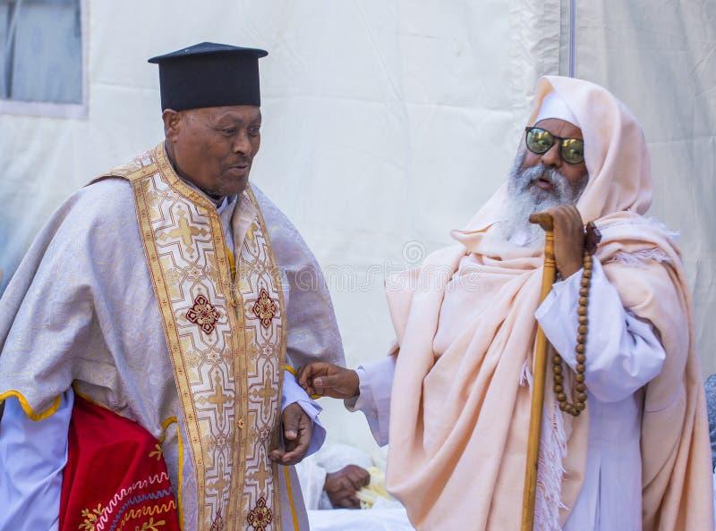 Ceremonia santa etíope del fuego fotos de archivo libres de regalías
