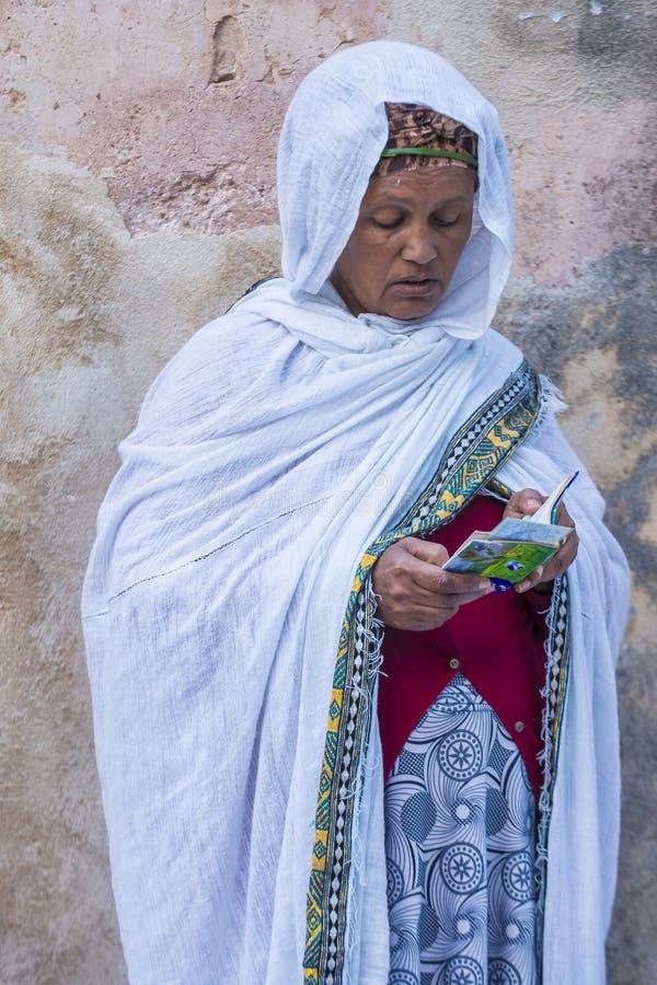 Ceremonia santa etíope del fuego foto de archivo libre de regalías