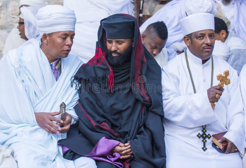Ceremonia santa etíope del fuego foto de archivo