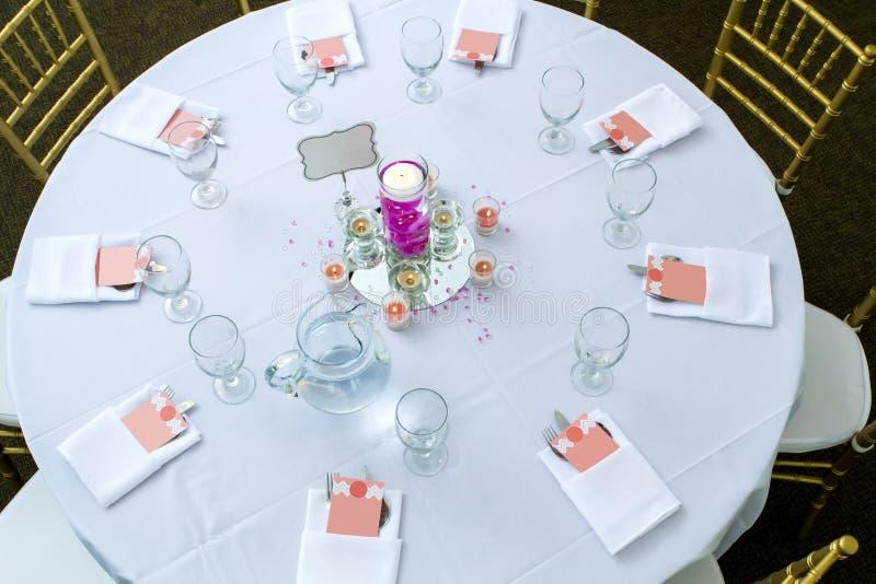 Ceremonia stół obraz stock
