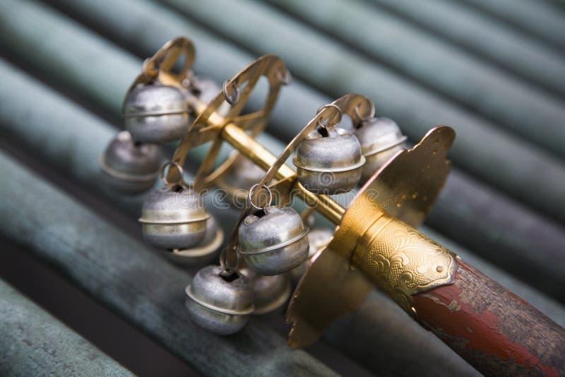 Ceremonial bells in Japan royalty free stock photos