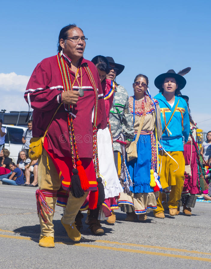 Ceremonial indiano intertribal de Gallup foto de stock