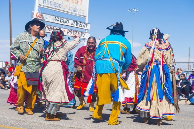 Ceremonial indiano intertribal de Gallup imagens de stock