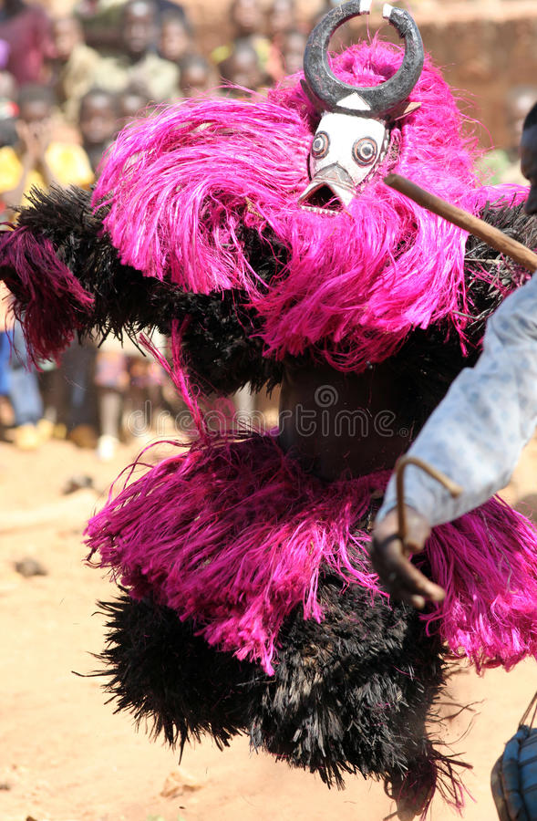Free Ceremonial Mask Dancer, Africa Royalty Free Stock Photos - 27706538