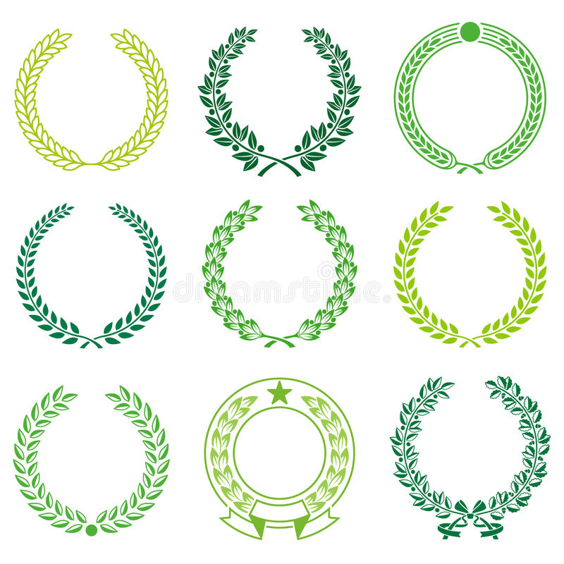 download ceremonial wreath frames stock vector illustration of element 55859875 - Wreath Frames