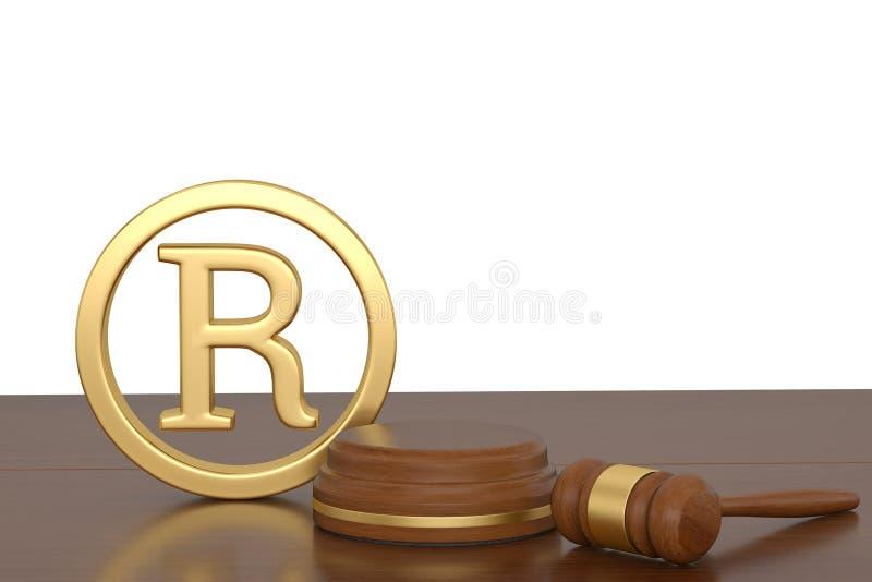 Ceremonialny dobniak i rejestrowy znaka firmowego symbolu 3D illustratio ilustracji