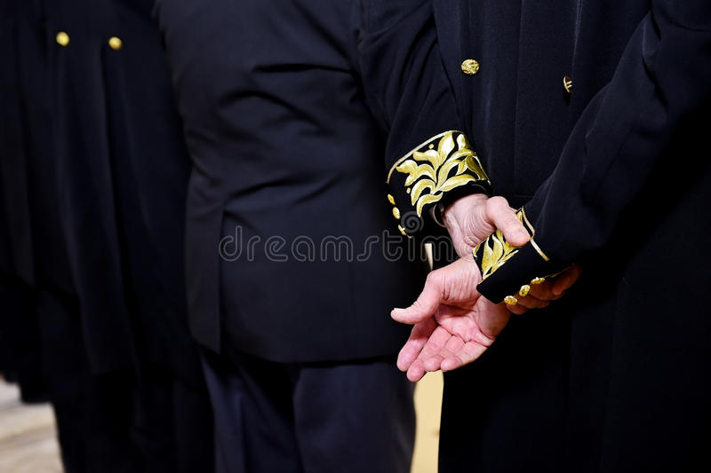 Ceremonialny smokingowego żakieta szczegół obrazy royalty free