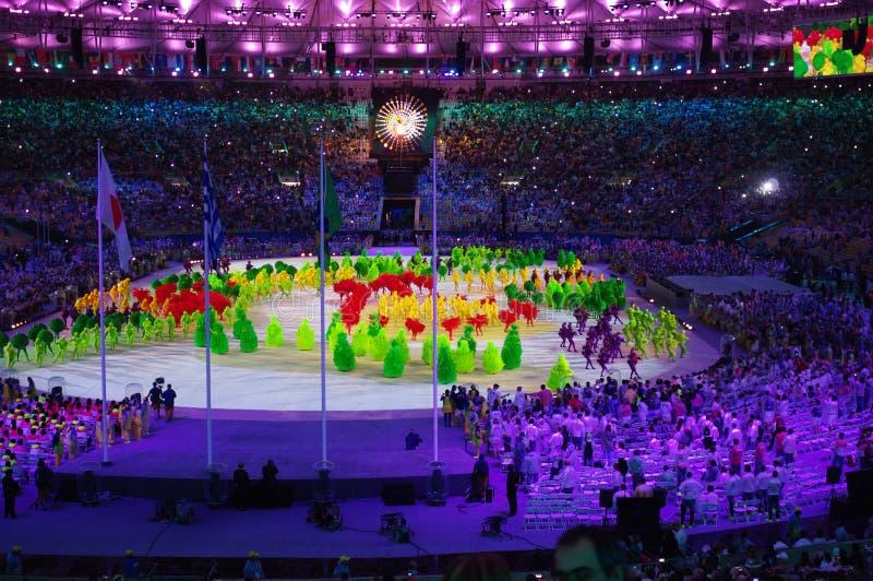 Ceremonias colosing Rio2016 en el estadio de Maracana imagen de archivo libre de regalías
