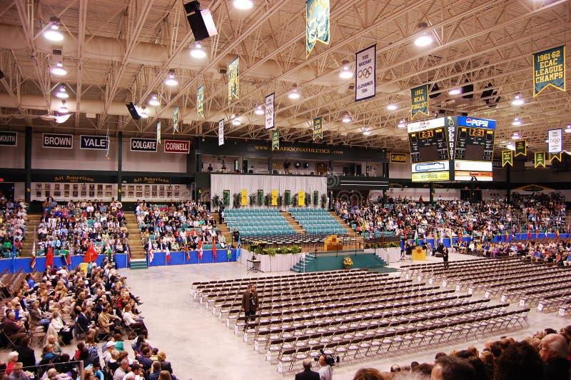 Ceremonie van de Graduatie van Clarkson de Universitaire 2010 stock fotografie