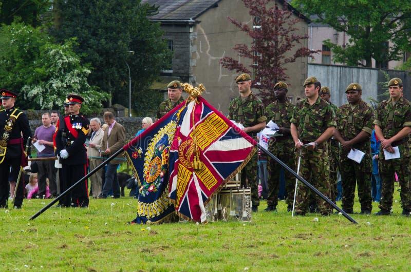 ceremonihertiglancaster regiment arkivfoto