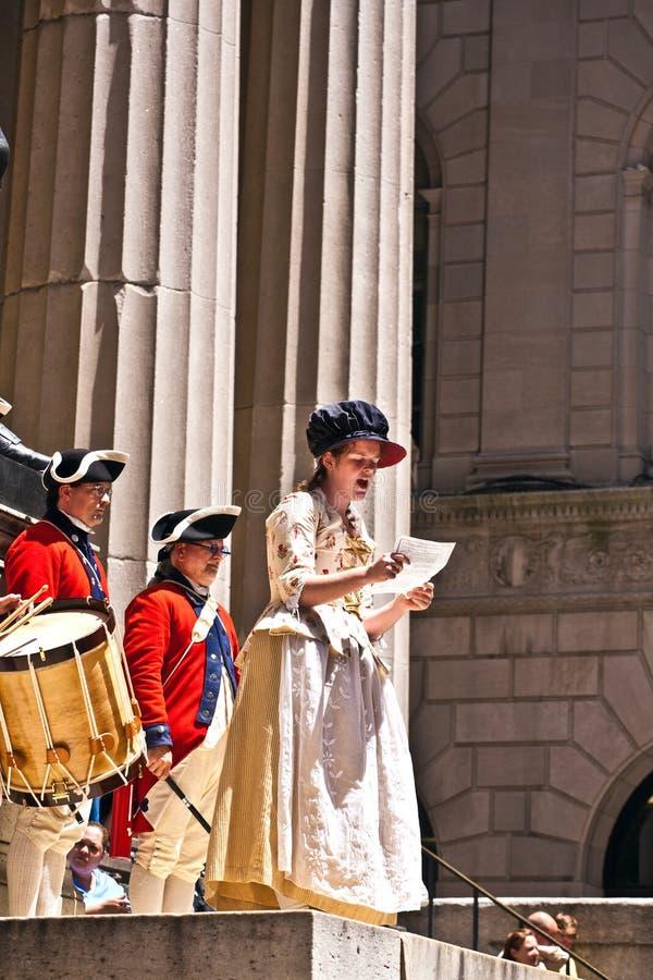 ceremonii deklaracja zdjęcia royalty free