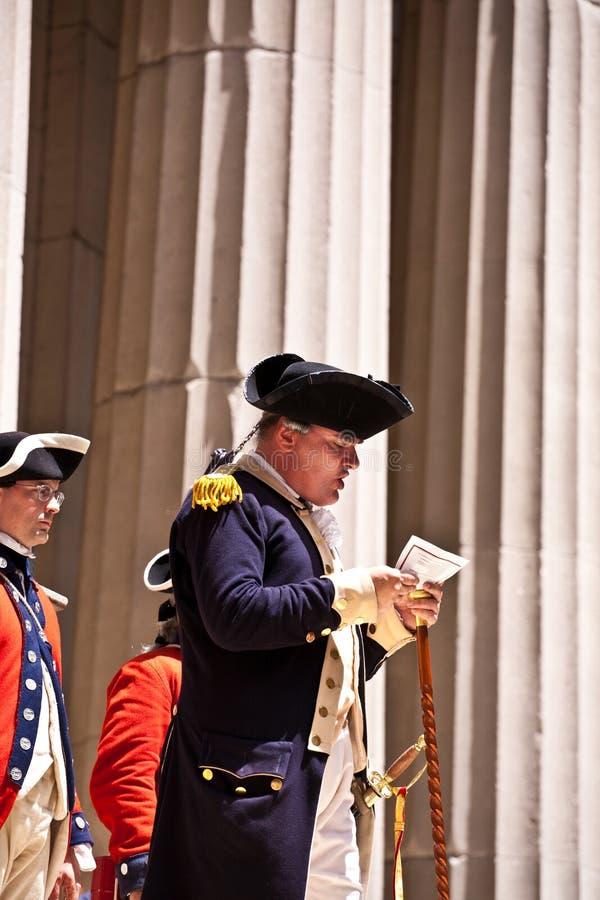 ceremonii deklaracja zdjęcie stock