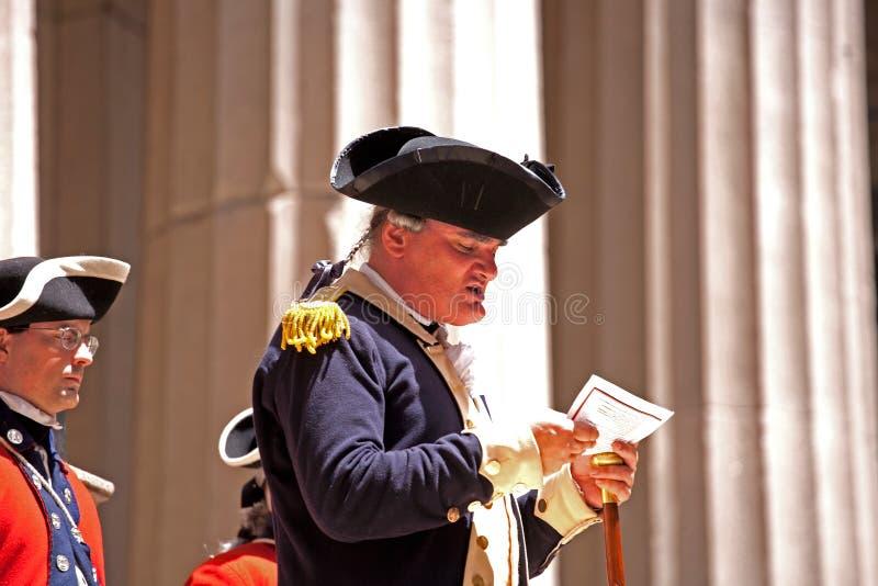 ceremonii deklaracja zdjęcie royalty free